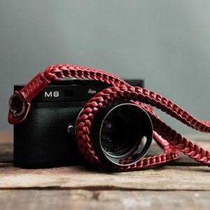 Barton1972 Leather Neck Strap Braided Style - Passion RedLEICA, 라이카